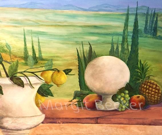 Toskana Wandmalerei von margit Becker